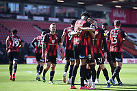2nd April 2021; Vitality Stadium, Bournemouth, Dorset, England; English Football League Championship Football, Bournemouth Athletic versus Middlesbrough; Philip Billing of Bournemouth celebrates with his. Team after scoring in 14th minute 1-0