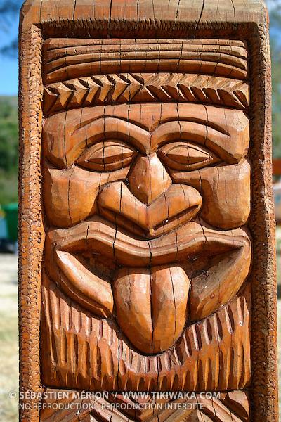 Sculpture kanak à Hienghène, Nouvelle-Calédonie