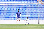 """Real Madrid's player Francisco Roman """"Isco"""" playing with his son after La Liga match between Real Madrid and Deportivo Alaves at Stadium Santiago Bernabeu in Madrid, Spain. April 02, 2017. (ALTERPHOTOS/BorjaB.Hojas)"""