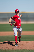 Cincinnati Reds relief pitcher Kyle Crockett (51) during a Minor League Spring Training game against the Chicago White Sox at the Cincinnati Reds Training Complex on March 28, 2018 in Goodyear, Arizona. (Zachary Lucy/Four Seam Images)