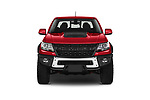 Car photography straight front view of a 2021 Chevrolet Colorado ZR2 4 Door Pick-up Front View