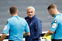 28th August 2020; Tottenham Hotspur Stadium, London, England; Pre-season football friendly; Tottenham Hotspur v Reading FC;  Tottenham Hotspur Manager Jose Mourinho talking to the referees after full time