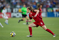 Carson, CA - Thursday August 03, 2017: Becky Sauerbrunn during a 2017 Tournament of Nations match between the women's national teams of the United States (USA) and Japan (JAP) at StubHub Center.