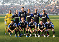 Earthquakes Starting XI players pose together for group photos before the game against the Timbers at Buck Shaw Stadium in Santa Clara, California on August 6th, 2011.   San Jose Earthquakes and Portland Timbers tied 1-1.