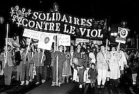 September 23, 1983 file photo - Montreal, Quebec, CANADA - <br /> la Nuit sans peur (night without fear) : a night demonstration of women agains rape and violence