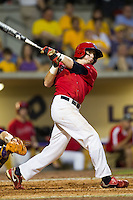 Stony Brook Seawolves outfielder Travis Jankowski #6 swings during the NCAA Super Regional baseball game against LSU on June 10, 2012 at Alex Box Stadium in Baton Rouge, Louisiana. Stony Brook defeated LSU 7-2 to advance to the College World Series. (Andrew Woolley/Four Seam Images)
