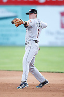 July 18, 2009:  Second Baseman Barry Butera (3) of the Tri-City ValleyCats during a game at Dwyer Stadium in Batavia, NY.  The ValleyCats are the Short-Season Class-A affiliate of the Houston Astros.  Photo By Mike Janes/Four Seam Images
