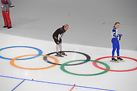 OLYMPIC GAMES: PYEONGCHANG: 10-02-2018, Gangneung Oval, Long Track, 3000m Ladies, Claudia Pechstein (GER), Natalia Voronina (OAR), ©photo Martin de Jong