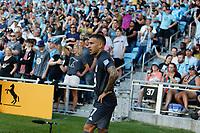 SAINT PAUL, MN - JUNE 23: Franco Fragapane #7 of Minnesota United FC prepares for the corner kick during a game between Austin FC and Minnesota United FC at Allianz Field on June 23, 2021 in Saint Paul, Minnesota.