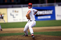 Lowell Spinners pitcher Andy Yount during a game at Stoklosa Alumni Field in Lowell, Massachusetts during the 1996 season.  (Ken Babbitt/Four Seam Images)