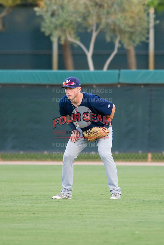 AZL Brewers right fielder Robert Henry (49) on defense against the AZL Dodgers on July 25, 2017 at Camelback Ranch in Glendale, Arizona. AZL Dodgers defeated the AZL Brewers 8-3. (Zachary Lucy/Four Seam Images)