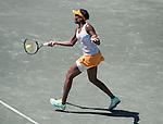 April  7, 2016:   Venus Williams (USA) loses to Yulia Putintseva (KAZ) 7-6, 2-6, 6-4, at the Volvo Car Open being played at Family Circle Tennis Center in Charleston, South Carolina.  ©Leslie Billman/Tennisclix/Cal Sport Media
