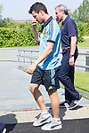 01.06.2012. Arrival of the players in the Spanish football team squad for the European Championship in Poland and Ukraine to the Ciudad del Futbol of Las Rozas, Madrid. In the image Cesc Fábregas (Alterphotos/Marta Gonzalez)