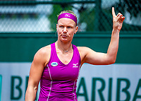Paris, France, 01 June, 2018, Tennis, French Open, Roland Garros, Womans Doubles : Kiki Bertens (NED) <br /> Photo: Henk Koster/tennisimages.com