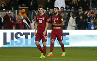 San Jose, CA - March 24, 2017: The U.S. Men's National team go up 6-0 over Honduras with Christian Pulisic and Clint Dempsey contributing goals during their 2018 FIFA World Cup Qualifying Hexagonal match at Avaya Stadium.