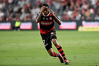 10th February 2021; Bankwest Stadium, Parramatta, New South Wales, Australia; A League Football, Western Sydney Wanderers versus Melbourne Victory; Keanu Baccus of Western Sydney Wanderers reacts after his shot is saved