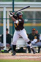 Pittsburgh Pirates Barrett Barnes (26) during a minor league Spring Training intrasquad game on April 3, 2016 at Pirate City in Bradenton, Florida.  (Mike Janes/Four Seam Images)