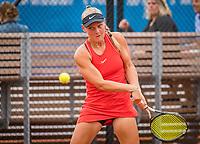 Amstelveen, Netherlands, 1 August 2020, NTC, National Tennis Center, National Tennis Championships, Women's double final: Suzan Lamens (NED)<br /> Photo: Henk Koster/tennisimages.com