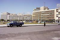 Kuwait April 1967.  Downtown Kuwait.  Sheraton Hotel on Far Left, Fahad as-Salem Street in background.