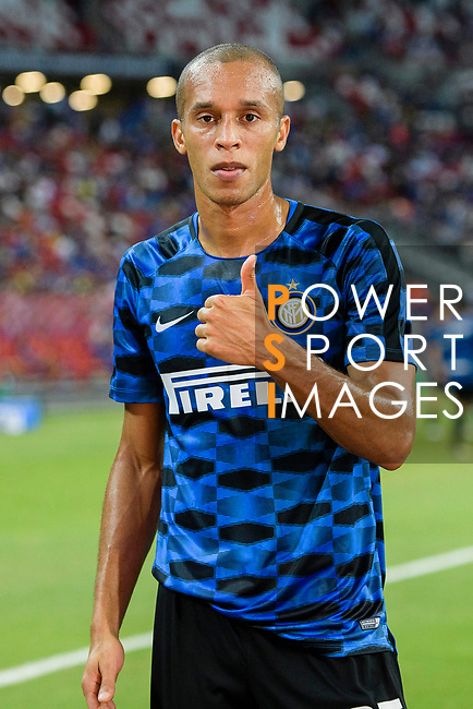 FC Internazionale Defender Joao Miranda Warming up during the International Champions Cup 2017 match between FC Internazionale and Chelsea FC on July 29, 2017 in Singapore. Photo by Marcio Rodrigo Machado / Power Sport Images