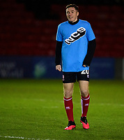 Lincoln City's Conor Coventry during the pre-match warm-up<br /> <br /> Photographer Andrew Vaughan/CameraSport<br /> <br /> The EFL Sky Bet League One - Lincoln City v Milton Keynes Dons - Tuesday 11th February 2020 - LNER Stadium - Lincoln<br /> <br /> World Copyright © 2020 CameraSport. All rights reserved. 43 Linden Ave. Countesthorpe. Leicester. England. LE8 5PG - Tel: +44 (0) 116 277 4147 - admin@camerasport.com - www.camerasport.com