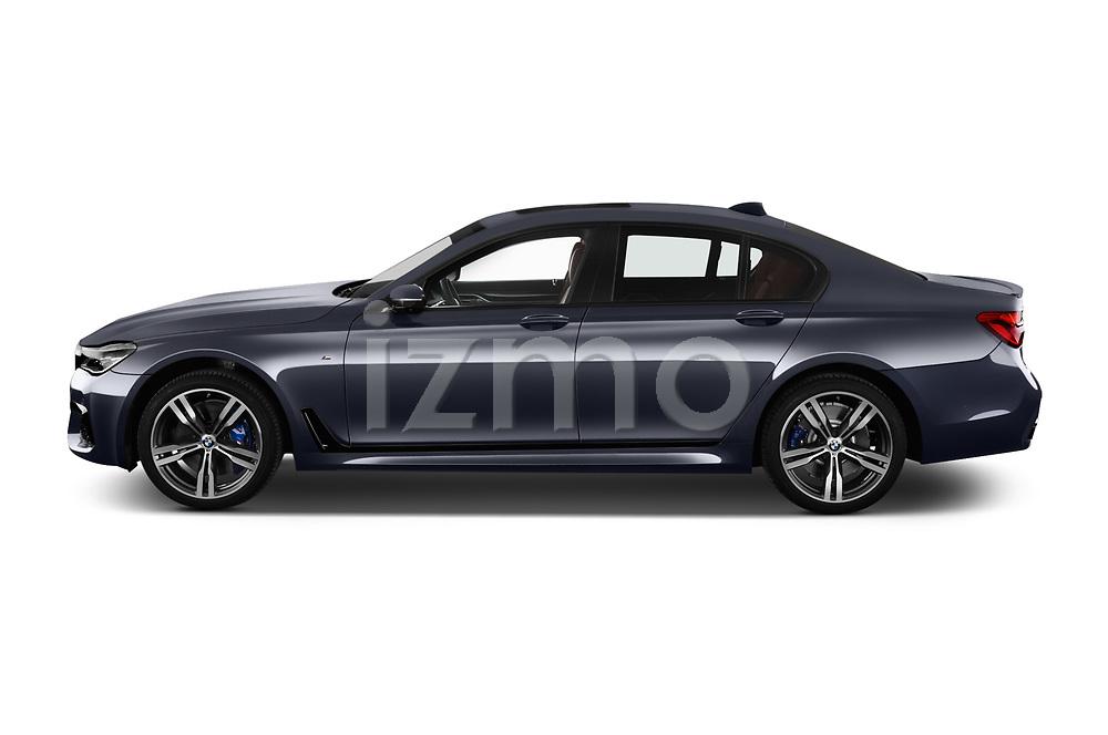 Car driver side profile view of a 2018 BMW 7 Series M Sport 4 Door Sedan