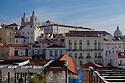 Lisbon, Portugal. 23.03.2015. View of Alfama district with the Monastery of São Vicente de Fora and the baroque church of Santa Engrácia. Photograph © Jane Hobson.