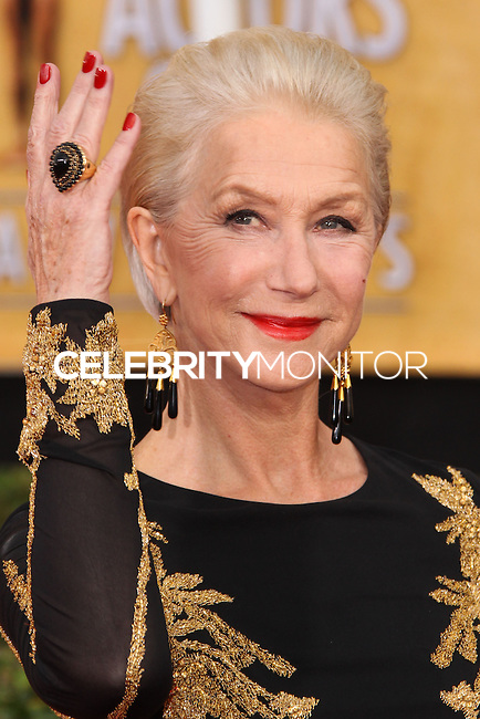 LOS ANGELES, CA - JANUARY 18: Helen Mirren at the 20th Annual Screen Actors Guild Awards held at The Shrine Auditorium on January 18, 2014 in Los Angeles, California. (Photo by Xavier Collin/Celebrity Monitor)