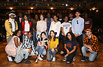 "High School Student performers during a Q & A before The Rockefeller Foundation and The Gilder Lehrman Institute of American History sponsored High School student #EduHam matinee performance of ""Hamilton"" at the Richard Rodgers Theatre on June 6, 2018 in New York City."