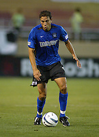 Earthquakes Midfielder Manny Lagos in action against Rapids at San Jose Spartan Stadium in San Jose, California on July 12th, 2003.  Rapids defeats Earthquakes, final score is 2-0.