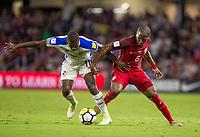 Orlando, FL - Friday Oct. 06, 2017: Armando Cooper, Darlington Nagbe during a 2018 FIFA World Cup Qualifier between the men's national teams of the United States (USA) and Panama (PAN) at Orlando City Stadium.