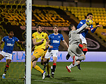 03.03.2021 Livingston v Rangers: Connor Goldson heads in but his goal is disallowed