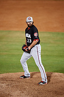 Chattanooga Lookouts relief pitcher Todd Van Steensel (23) delivers a pitch during a game against the Mobile BayBears on May 5, 2018 at Hank Aaron Stadium in Mobile, Alabama.  Chattanooga defeated Mobile 11-5.  (Mike Janes/Four Seam Images)
