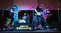 08 APR 2016 - STOWMARKET, GBR - The Baskervilles (left to right) Callum Ferguson, Blair Ferguson, James Betts and Aaron Lamb, perform during a recording for BBC Introducing at the John Peel Centre for Creative Arts in Stowmarket, Suffolk, Great Britain (PHOTO COPYRIGHT © 2016 NIGEL FARROW, ALL RIGHTS RESERVED)