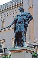 London: Bronze--James II as Roman Emperor, 1686. National Gallery. Photo '90.
