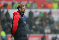 Liverpool manager Jurgen Klopp during the Barclays Premier League match between Swansea City and Liverpool at the Liberty Stadium, Swansea on Sunday May 1st 2016