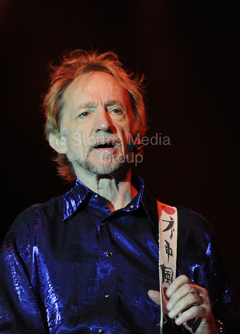 POMPANO BEACH, FL - JUNE 05:  Davy Jones, Peter Tork and Micky Dolenz of The Monkees perform their U.S. Tour at t the Pompano Beach Ampitheatrer.  on June 5, 2011 in Pompano Beach, Florida.<br /> <br /> People:  Peter Tork