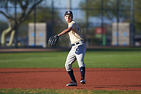 Saul Razo (48), from Rohnert Park, California, while playing for the Brewers during the Under Armour Baseball Factory Recruiting Classic at Red Mountain Baseball Complex on December 29, 2017 in Mesa, Arizona. (Zachary Lucy/Four Seam Images)