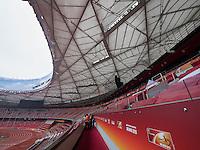 "Nationalstadion Vogelnest im Olympia-Center, Peking, China, Asien<br /> National stadium ""Birds nest"" at Olympic Center,  Beijing, China, Asia"