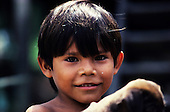 Juruena, Amazon, Brazil. Portrait of a caboclo settler boy.