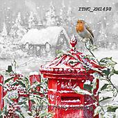 Marcello, CHRISTMAS LANDSCAPES, WEIHNACHTEN WINTERLANDSCHAFTEN, NAVIDAD PAISAJES DE INVIERNO, paintings+++++,ITMCXM1498,#XL# ,red robin