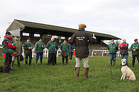 Clerk of the course David Hunter issues instructions to fence attendants ahead of racing - Horse Racing at Fakenham Racecourse, Norfolk - 10/12/12 - MANDATORY CREDIT: Gavin Ellis/TGSPHOTO - Self billing applies where appropriate - 0845 094 6026 - contact@tgsphoto.co.uk - NO UNPAID USE.