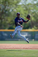 Atlanta Braves Kevin Josephina (87) during a minor league Spring Training game against the Pittsburgh Pirates on March 13, 2018 at Pirate City in Bradenton, Florida.  (Mike Janes/Four Seam Images)