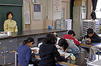 The SAYA humanoid teaches during a pilot run at Kudan Primary in central Tokyo, 21 Jan 09. The humanoid, which can talk and has unlimited facial expressions is being introduced as a teacher for primary school children. SAYA already acts a secretary at Tokyo University of Science...photo by SINOPIX
