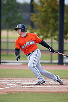 Miami Marlins Skyler Ewing (79) during a Minor League Spring Training game against the Washington Nationals on March 28, 2018 at FITTEAM Ballpark of the Palm Beaches in West Palm Beach, Florida.  (Mike Janes/Four Seam Images)