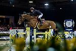 Michael Whitaker of Great Britain riding Calisto Blue competes in the Longines Grand Prix during the Longines Masters of Hong Kong at AsiaWorld-Expo on 11 February 2018, in Hong Kong, Hong Kong. Photo by Zhenbin Zhong / Power Sport Images