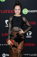 WEST HOLLYWOOD, CA, USA - NOVEMBER 13: Hayley Orrantia arrives at the Latina Magazine's '30 Under 30' Party held at SkyBar at the Mondrian Los Angeles on November 13, 2014 in West Hollywood, California, United States. (Photo by Xavier Collin/Celebrity Monitor)