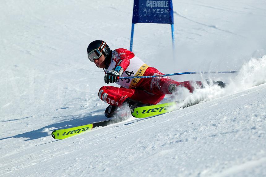 Jesse Swing at the men's giant slalom, 2004 Chevrolet Alpine National Championships, Alyeska Resort, Alaska.