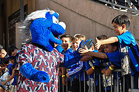 STANFORD, CA - JUNE 29: Mascot during a Major League Soccer (MLS) match between the San Jose Earthquakes and the LA Galaxy on June 29, 2019 at Stanford Stadium in Stanford, California.