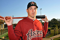 Feb 25, 2010; Kissimmee, FL, USA; The Houston Astros outfielder Brian Bogusevic (19) during photoday at Osceola County Stadium. Mandatory Credit: Tomasso De Rosa/Four Seam Images